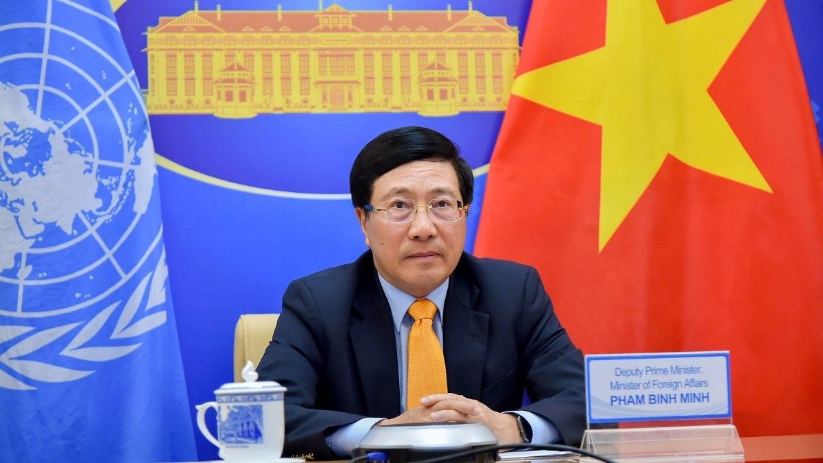 Phó Thủ tướng Phạm Bình Minh tại phiên họp 46 Hội đồng Nhân quyền. Ảnh: TTXVN