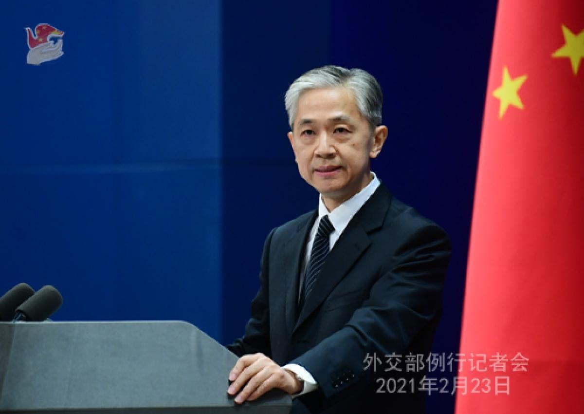 Người phát ngôn Bộ Ngoại giao Trung Quốc. Ảnh: FM China