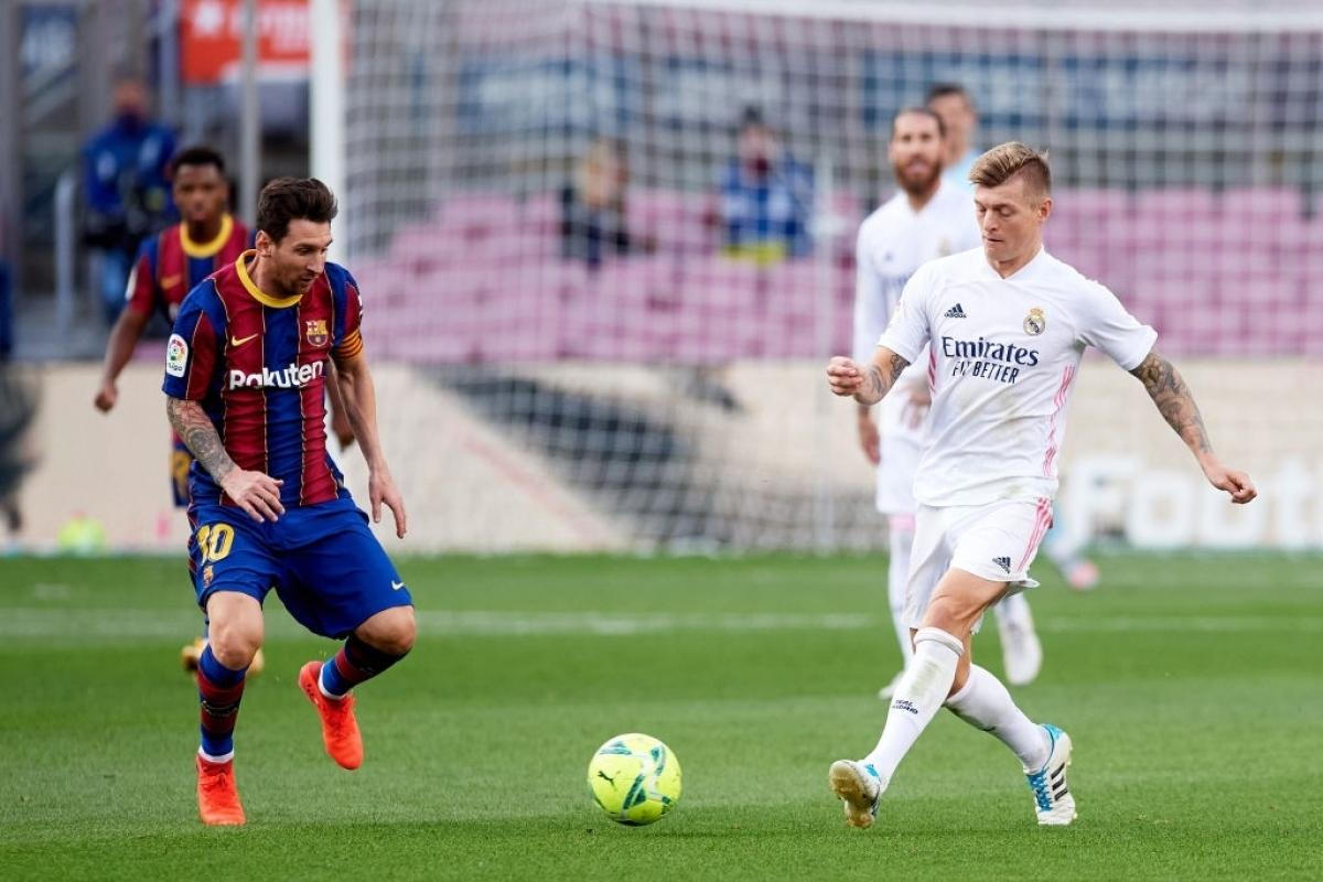 Real Madrid đại chiến Barca ở vòng 30 La Liga (Ảnh: Getty).
