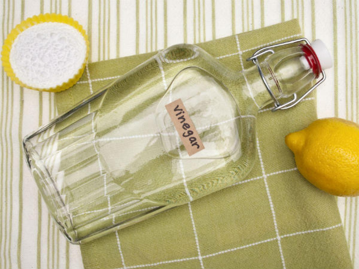 Giấm: Giấm là một nguyên liệu giúp tẩy sạch dầu mỡ cực kỳ hiệu quả. Bạn có thể dùng giấm để vệ sinh bàn bếp, máy rửa bát, lò nướng và lò vi sóng. Giấm được sử dụng phổ biến để làm sạch các bề mặt, nhưng không đủ mạnh để tiêu diệt các vi khuẩn gây hại.