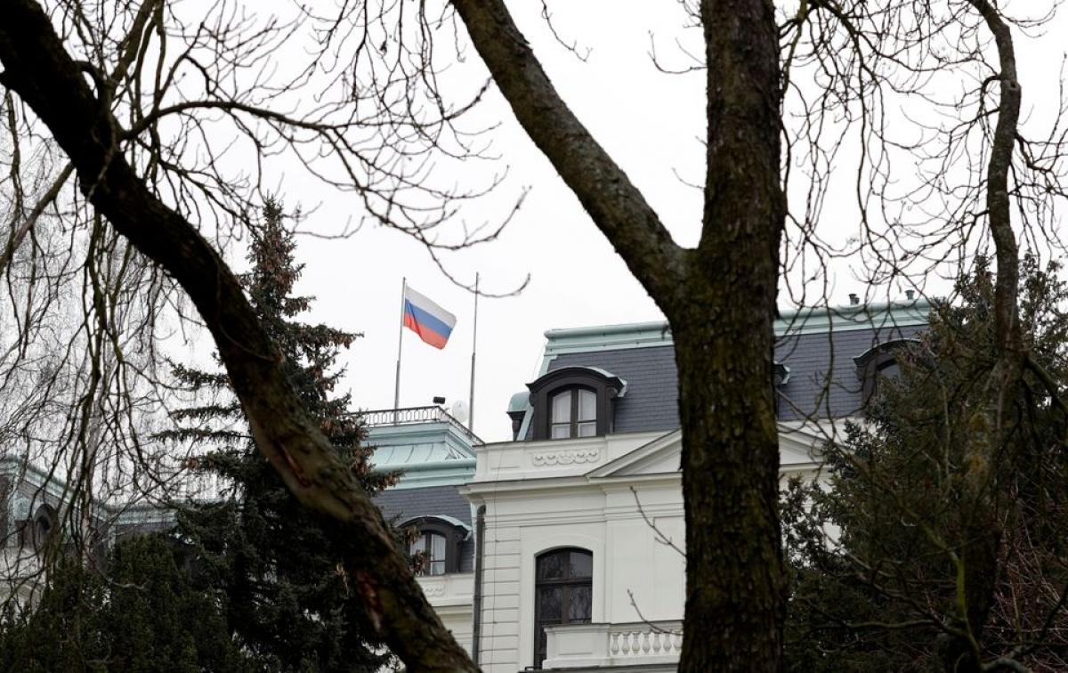 Đại sứ quán Nga tại Prague, Cộng hòa Séc. Ảnh: Reuters