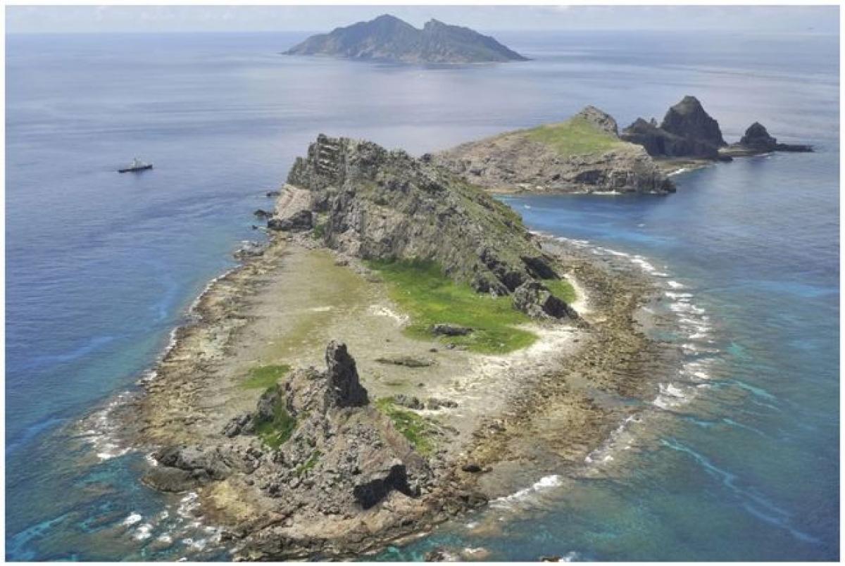 Quần đảo tranh chấp Senkaku/Điếu Ngư ở biển Hoa Đông. Ảnh: SCMP