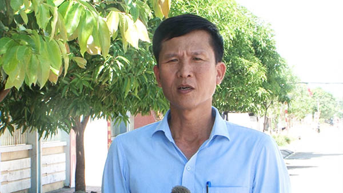 Ông Hoàng Minh Chính, Phó Chủ tịch UBND phường Nghi Thuỷ, Nghệ An. (Ảnh: Báo Nghệ An)