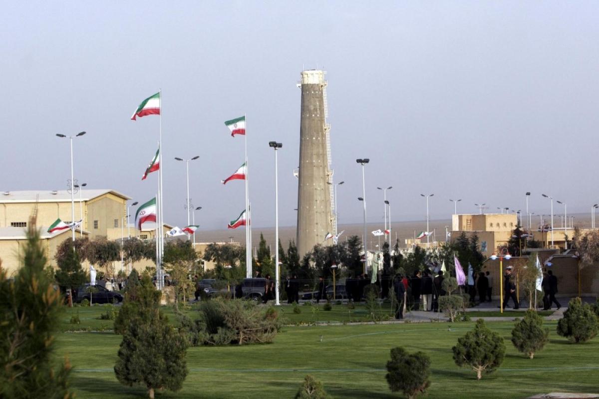 Cơ sở hạt nhân Natanz của Iran gặp sự cố hôm 11/4. Ảnh: AP