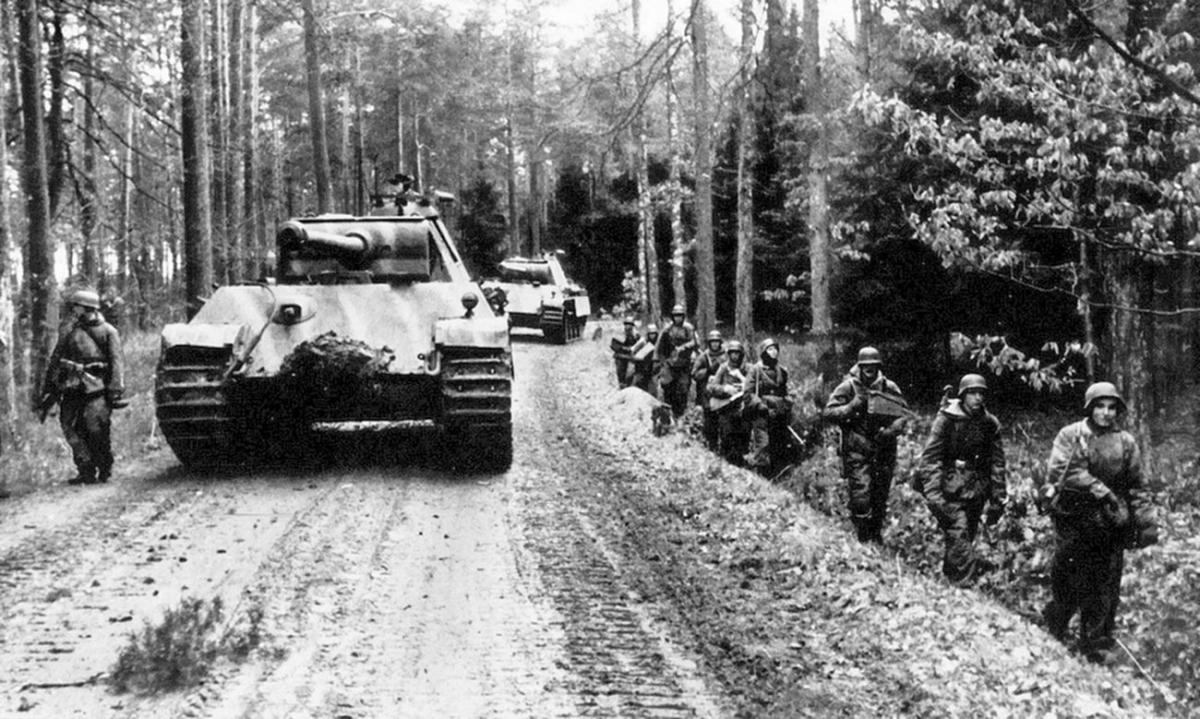 Sư đoàn Hermann Goering của Đức. Ảnh: Tư liệu.
