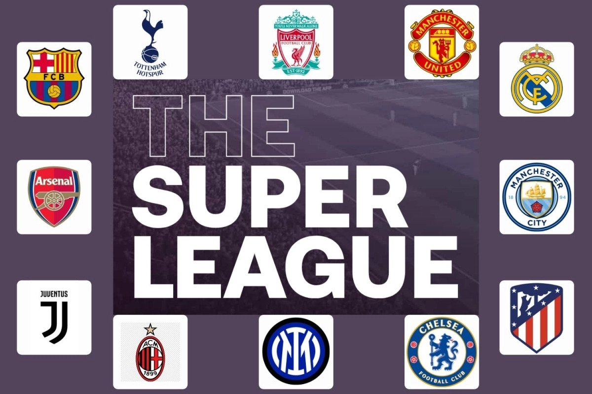 """12 đội bóng tuyên bố mình là thành viên nhóm """"CLB sáng lập"""" Super League. (Ảnh: The Sun)"""