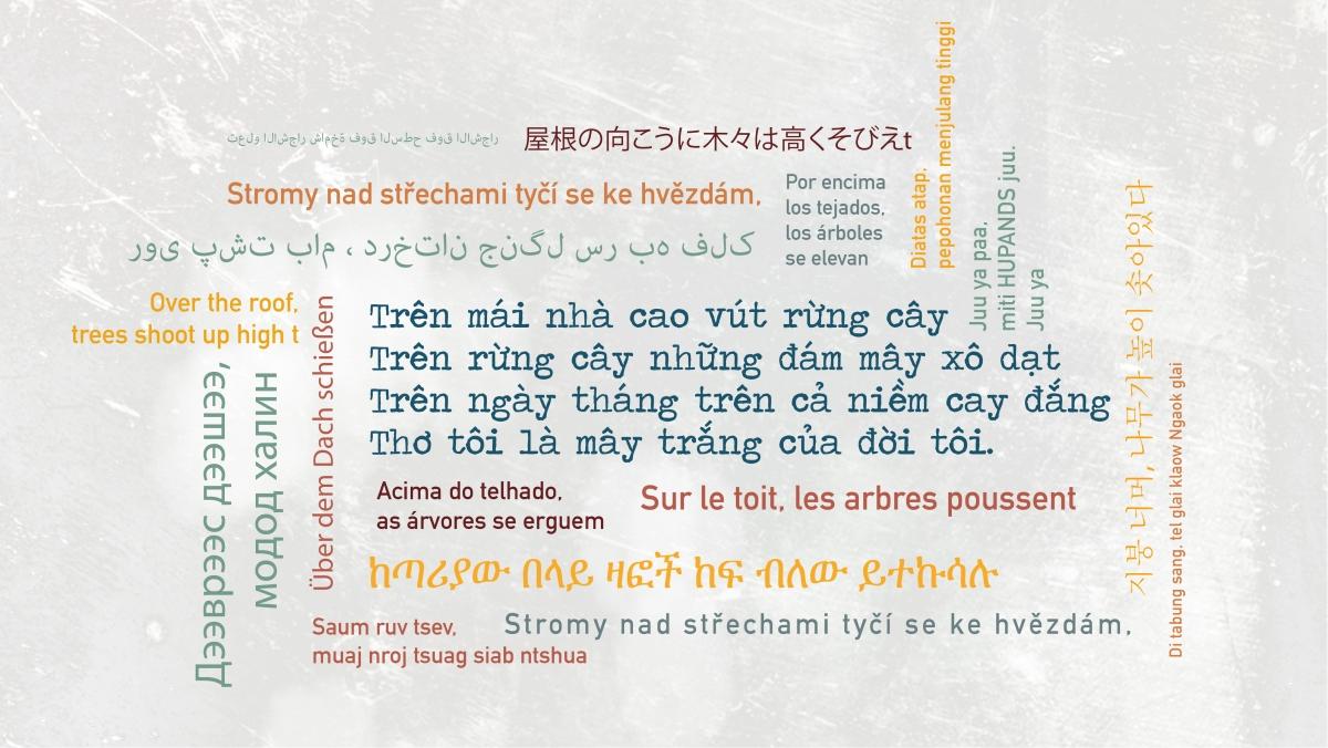 """Một đoạn trong tác phẩm """"Mây trắng của đời tôi"""" được chuyển thể thành 20 ngôn ngữ khác nhau."""