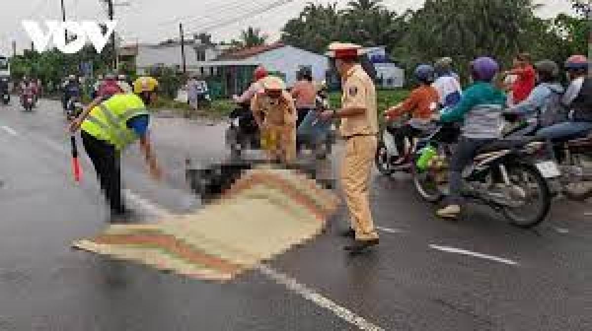 Hiện trường xảy ra các vụ tai nạn.