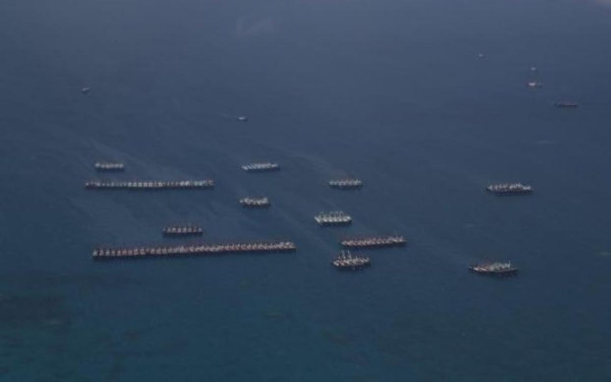 Hình ảnh các tàu Trung Quốc trên Biển Đông. Nguồn: Thestar.