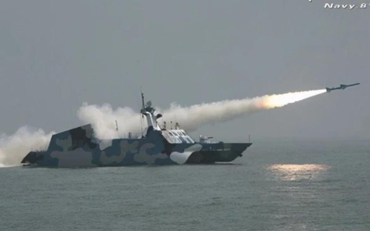 Một tàu tấn công nhanh của Trung Quốc. Ảnh: Truyền thông nhà nước Trung Quốc.