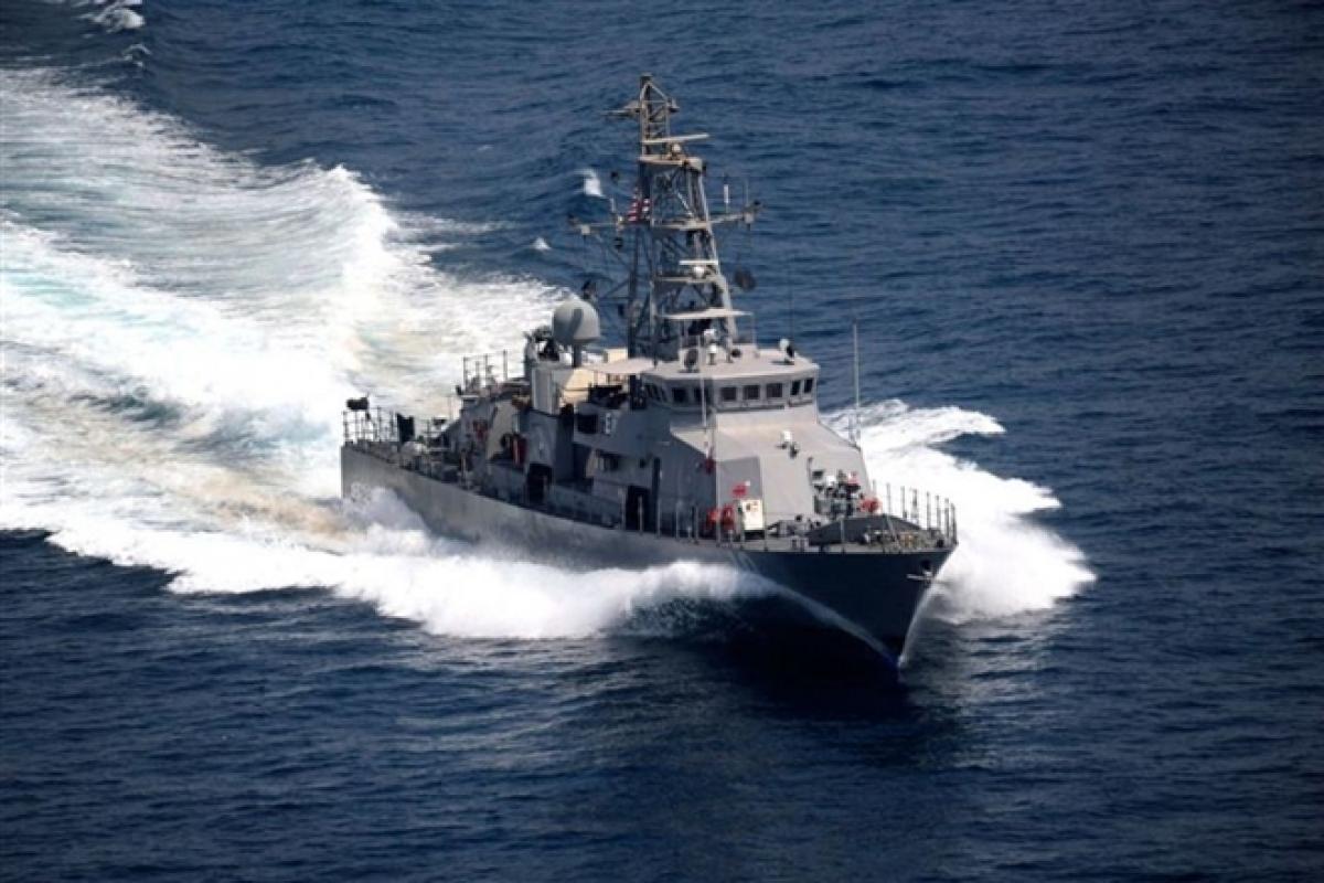 Tàu USS Firebolt trong một cuộc tập trận ở vùng Vịnh. Ảnh: Reuters