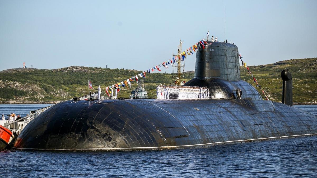 Tàu ngầm đề án 941 Akula. Ảnh: Sputnik