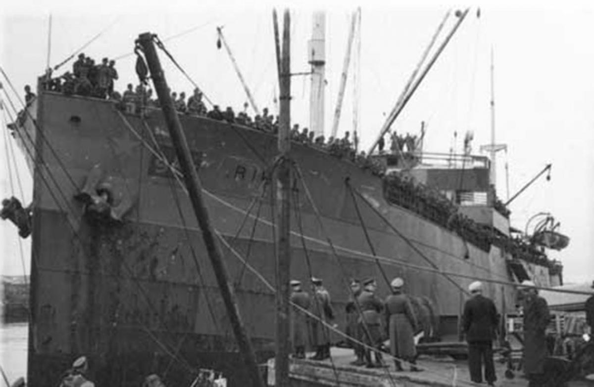Tàu Rigel phục vụ quân đội Đức. Ảnh: RBTH
