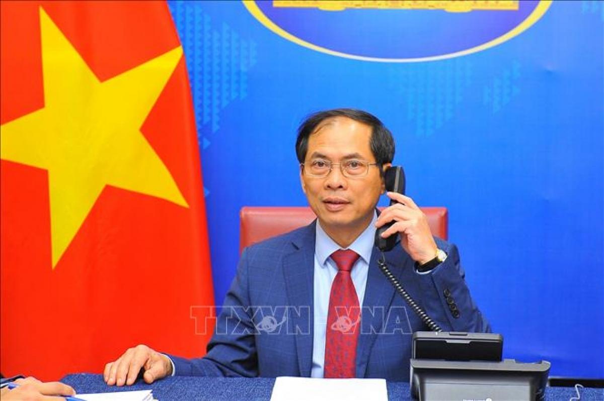 Bộ trưởng Ngoại giao Bùi Thanh Sơn. Ảnh: TTXVN