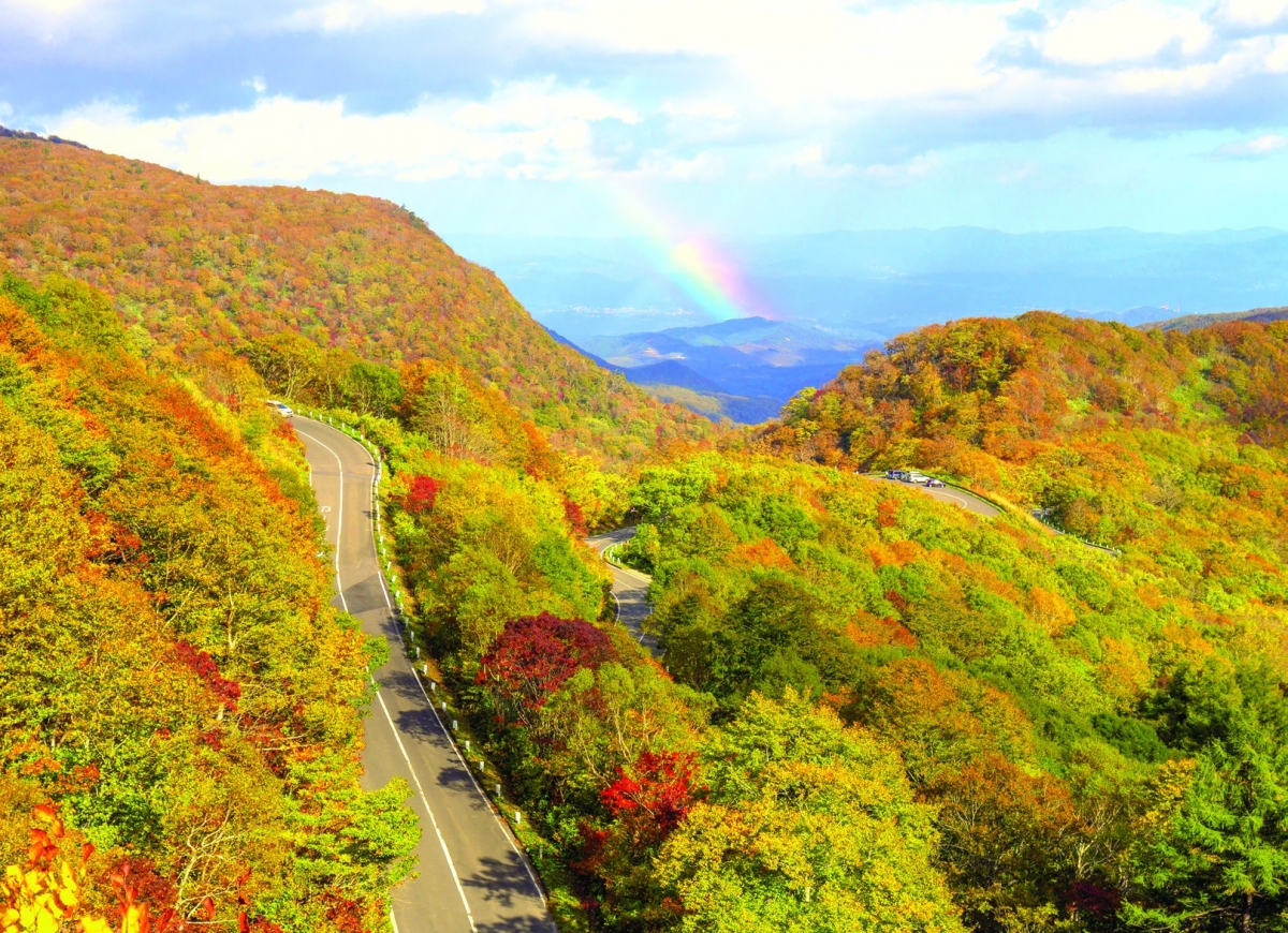 Con đường vắt ngang qua dãy núi Azuma với cảnh quan hùng vĩ đẹp mê hồn vào mùa thu lá đỏ. Lái xe chầm chậm qua con đường này, du khách sẽ có cái nhìn bao quát toàn cảnh. Nơi đây được chọn là một trong 100 con đường đẹp nhất Nhật Bản. Tuyến đường này ngừng hoạt động vào mùa đông.