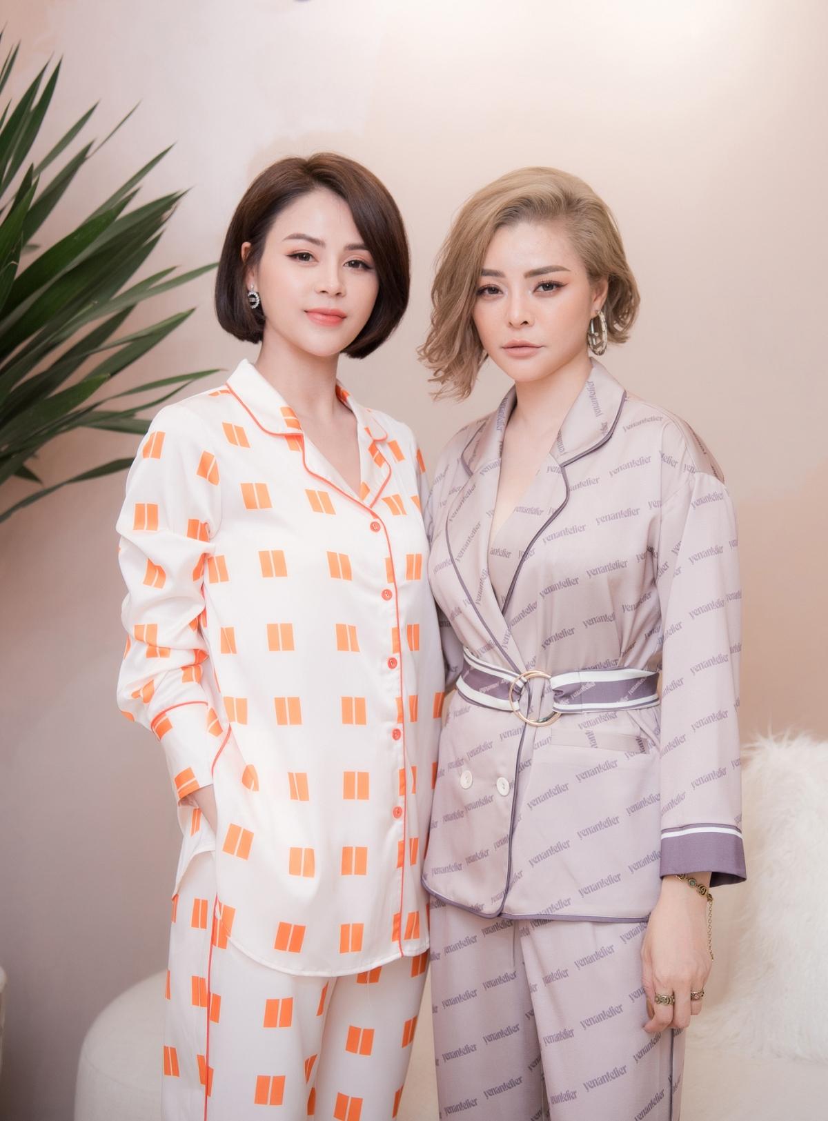 Gương mặt xinh đẹp và vóc dáng cao ráo khiến Thu Trang rất nổi bật dù diện trang phục pijama.