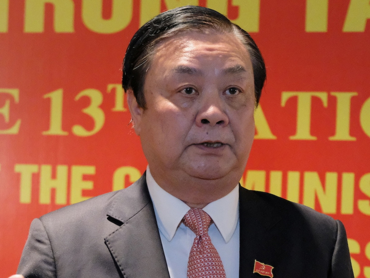 Tân Bộ trưởng Nông nghiệp và Phát triển nông thôn Lê Minh Hoan.