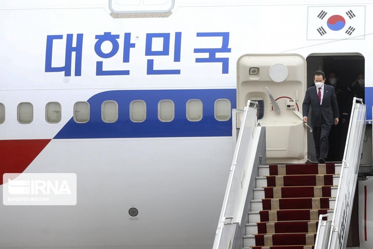 Thủ tướng Hàn Quốc tới Tehran thúc đẩy quan hệ song phương. Ảnh: IRNA.