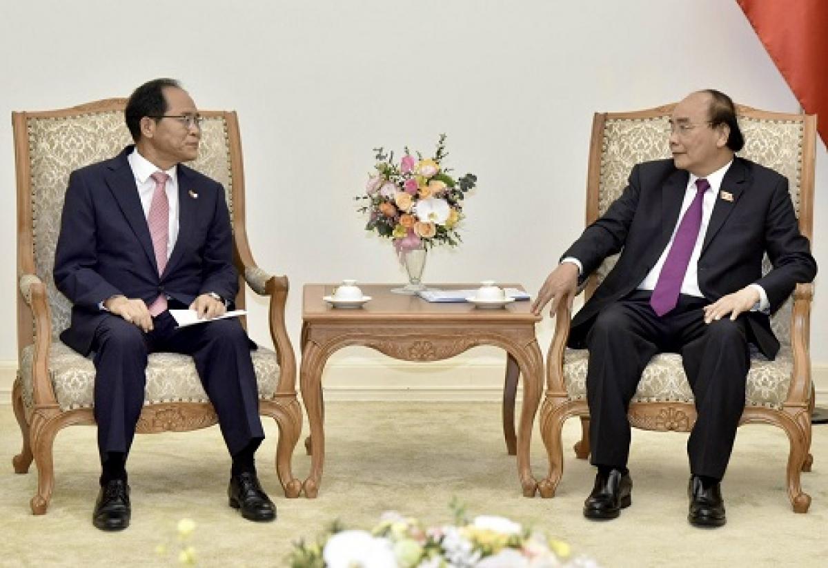 Thủ tướng tiếp các tập đoàn công nghệ Hàn Quốc