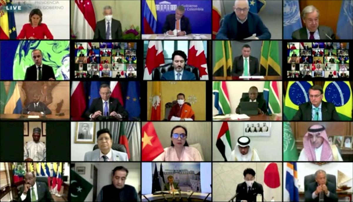Hội nghị thượng đỉnh về khí hậu được tổ chức trực tuyến. Ảnh: CNN