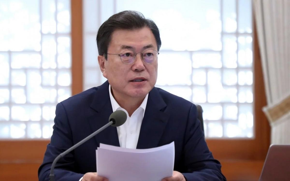 Tổng thống Hàn Quốc Moon Jae-in. Ảnh: SCMP.