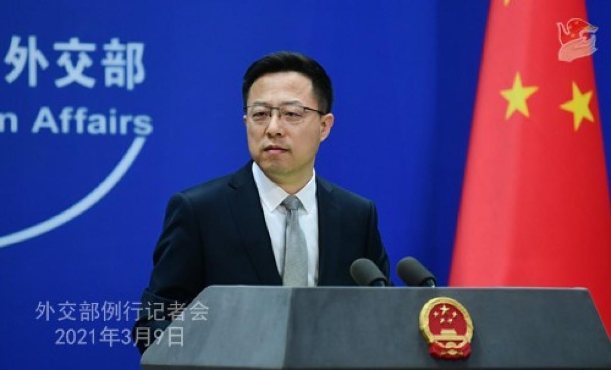 Người phát ngôn Bộ Ngoại giao Trung Quốc Triệu Lập Kiên. (Ảnh: Bộ Ngoại giao Trung Quốc)