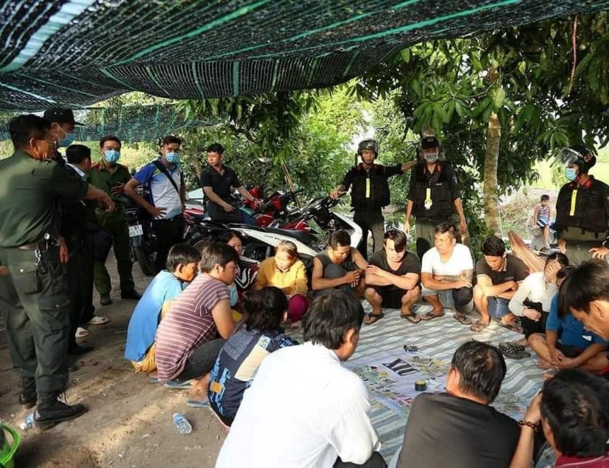 Tụ điểm đá gà, lắc tài xỉu tại huyện Cái Bè, Tiền Giang