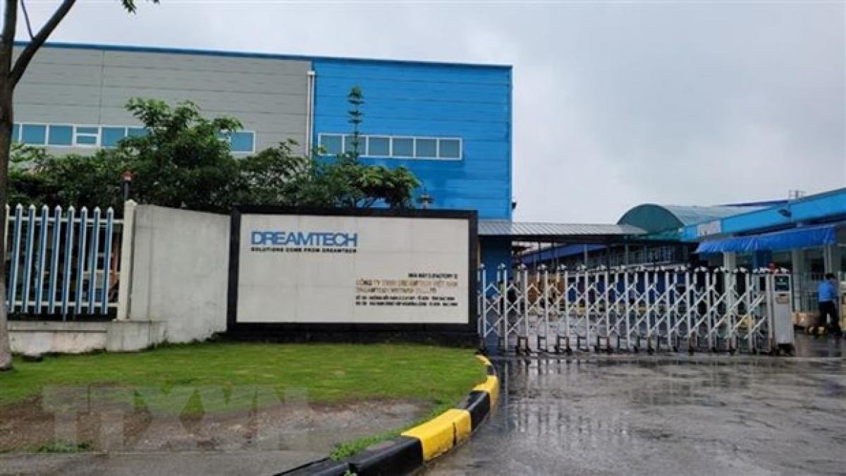 Công ty TNHH Dreamtech Việt Nam - nơi xảy ra vụ cháy khiến 3 công nhân tử vong. (Ảnh: Thái Hùng/TTXVN)