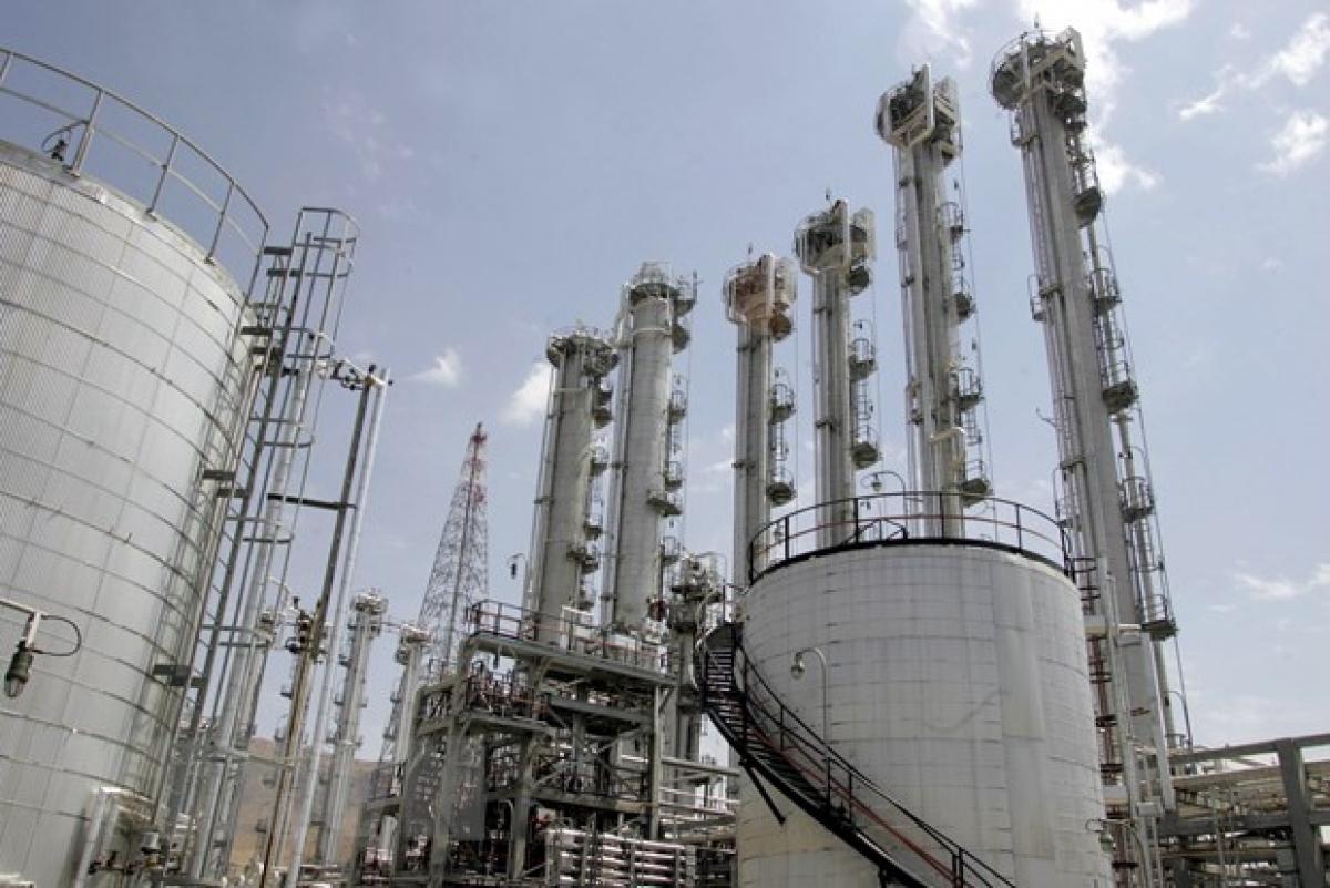 Nhà máy nghiên cứu nước nặng Arak, cách thủ đô Tehran (Iran) 320km về phía Nam. Nguồn: AFP