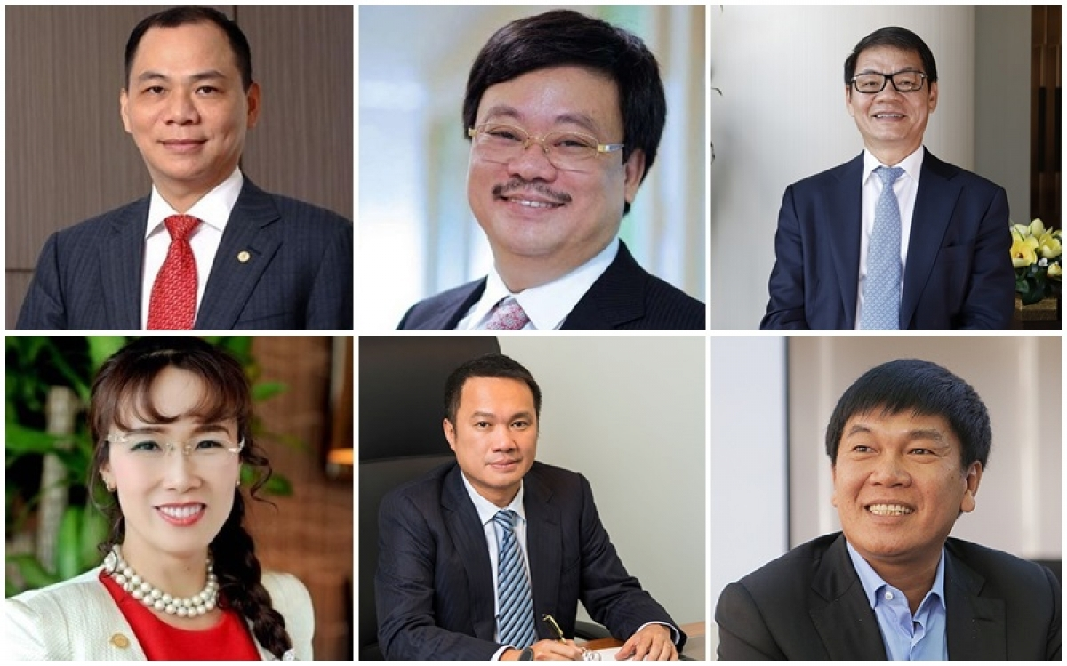 Six Vietnamese billionaires are named in the Forbes' latest rich list