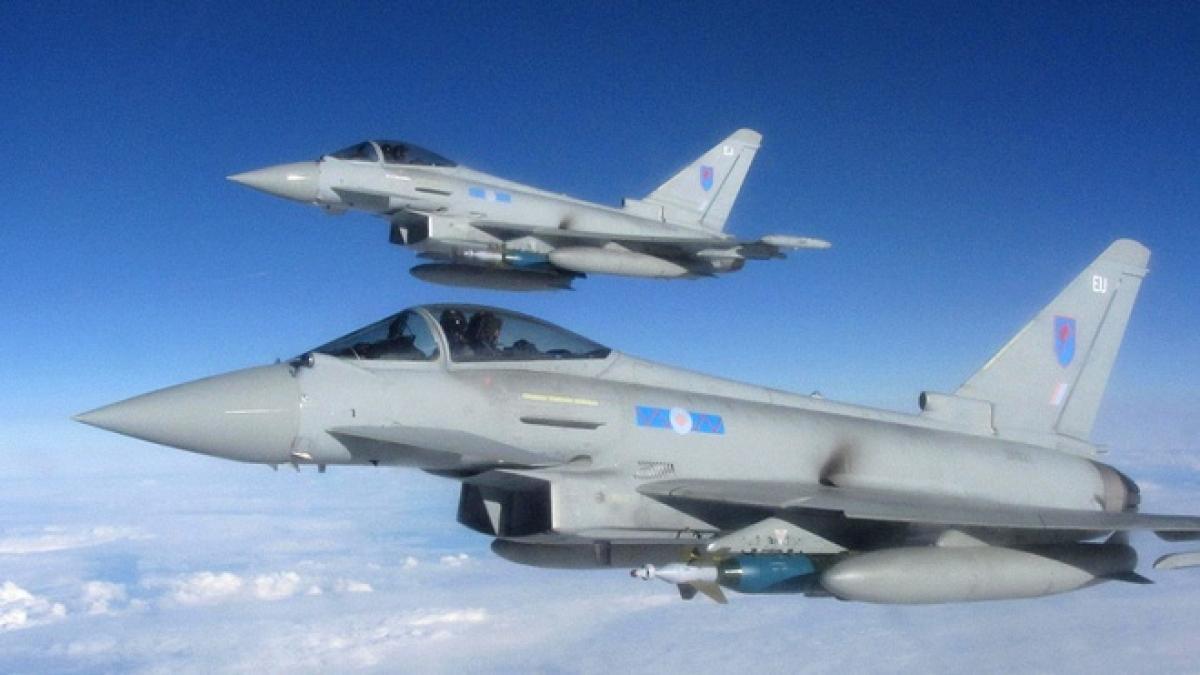 Chiến đấu cơ của không quân hoàng gia Anh. (Ảnh: Bộ Quốc phòng Anh)