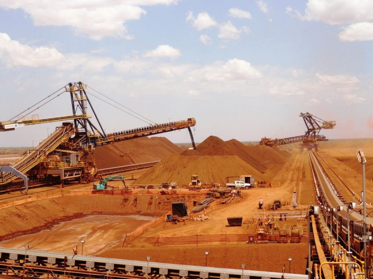 Quặng sắt là mặt hàng xuất khẩu của Australia ít bị ảnh hưởng từ căng thẳng quan hệ của nước này với Trung Quốc. Ảnh Conversation.