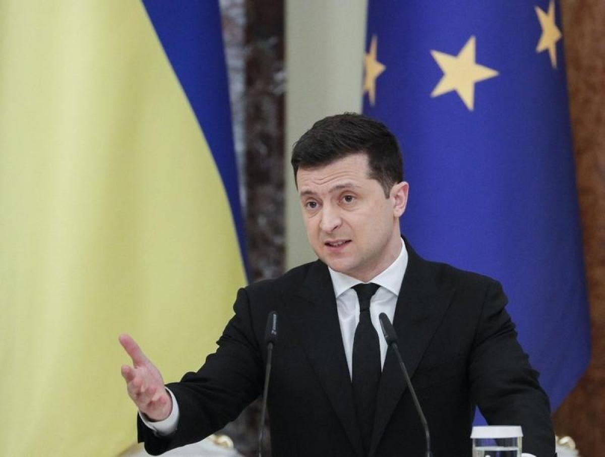 Tổng thống Ukraine Volodymyr Zelenskiy. (Ảnh: AFP)