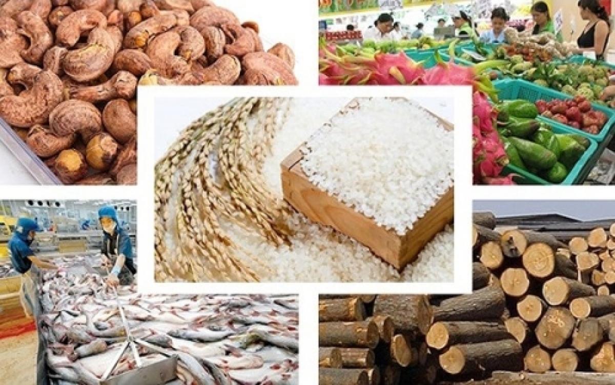 3 tháng đầu năm xuất khẩu nông, lâm, thủy sản tăng gần 20%. (Ảnh: KT)