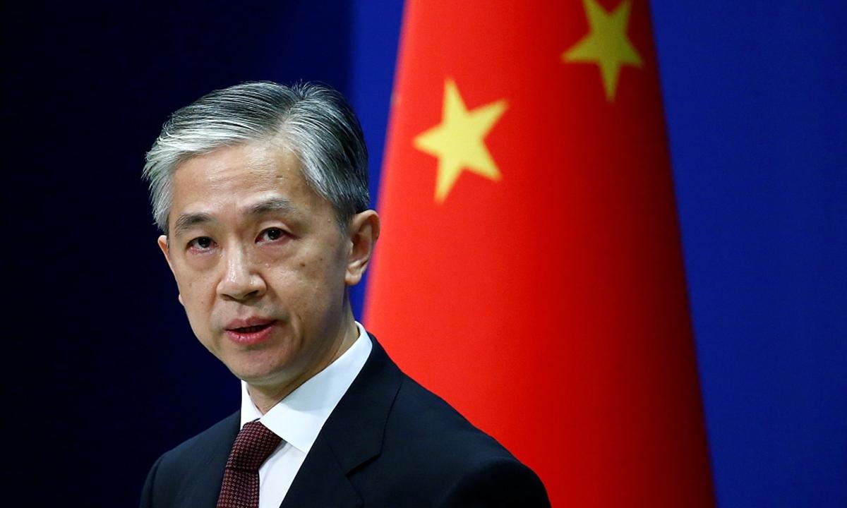 Người phát ngôn Bộ Ngoại giao Trung Quốc Uông Văn Bân. Ảnh: Global Times