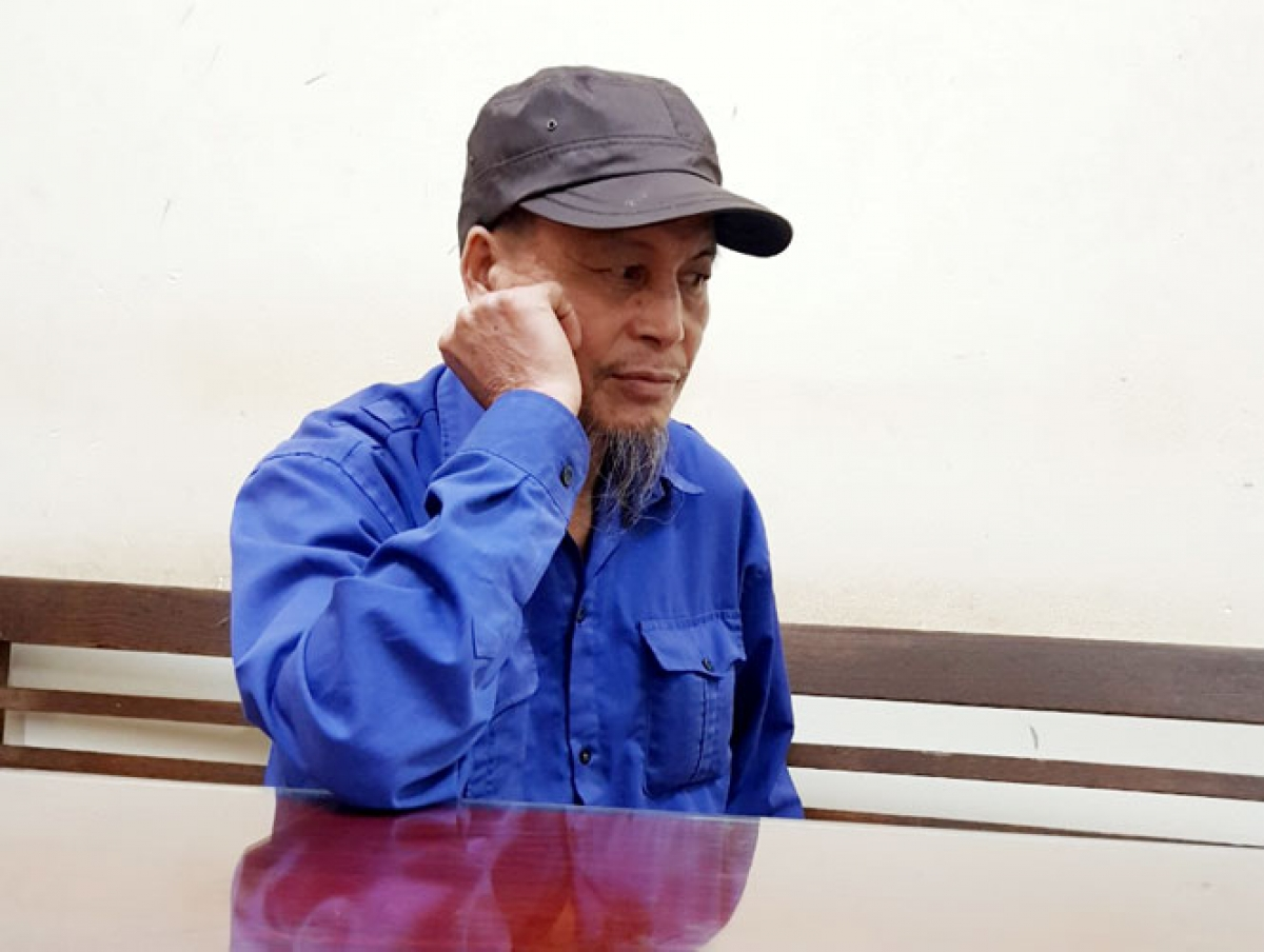 Đối tượng Vũ Văn Việt bị tạm giữ tại Công an huyện Phú Bình. Ảnh: Báo Thái nguyên
