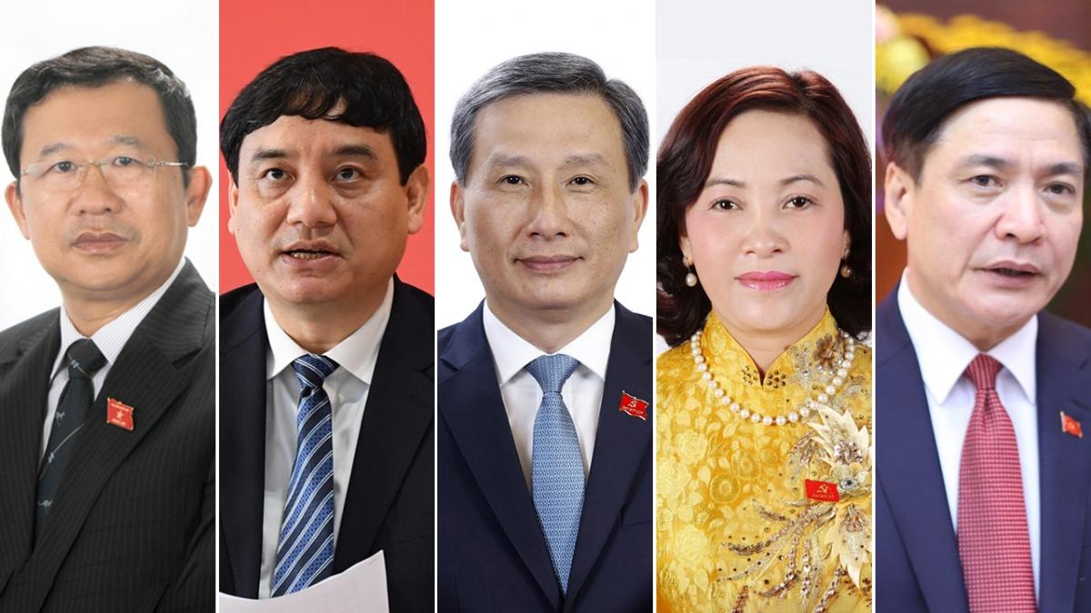5 nhân sự được giới thiệu để bầu Ủy viên Ủy ban Thường vụ Quốc hội