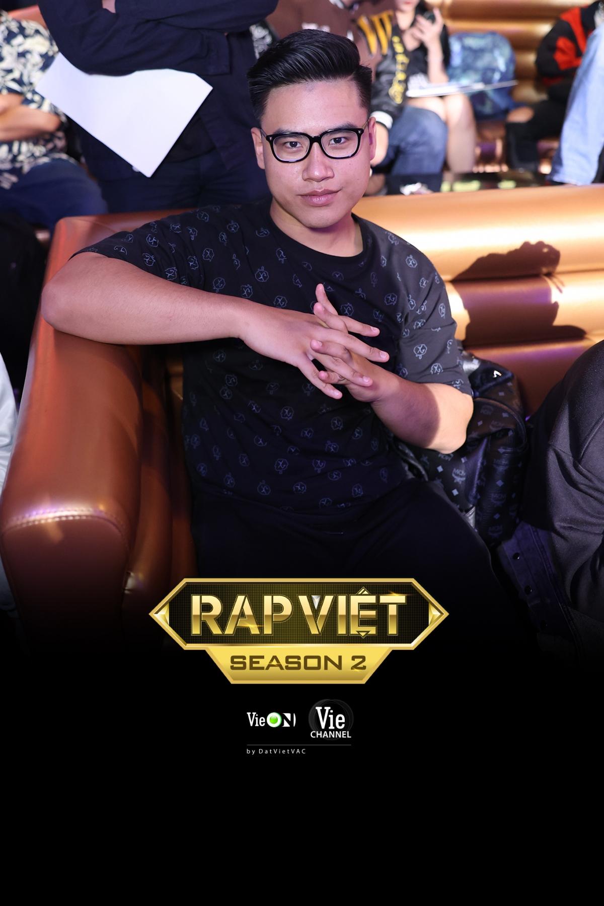 Á quân Rap Việt mùa 1, GDucky bất ngờ xuất hiện tại buổi casting.