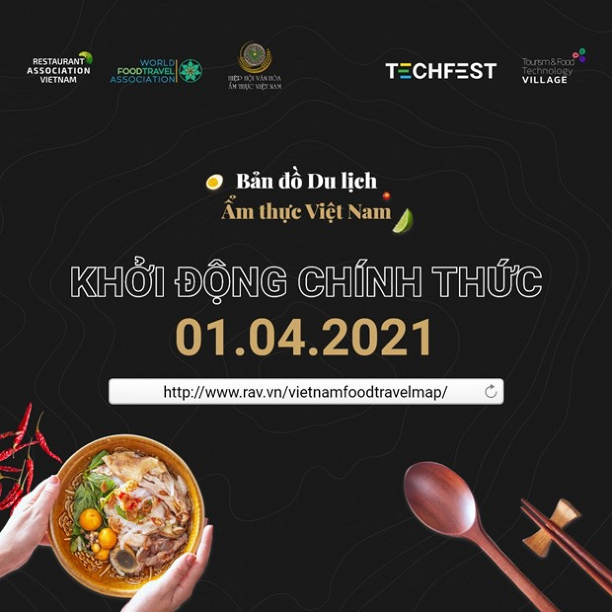 The Vietnam Food Travel Map project has been unveiled (Photo: Facebook of the Restaurant Association of Vietnam)