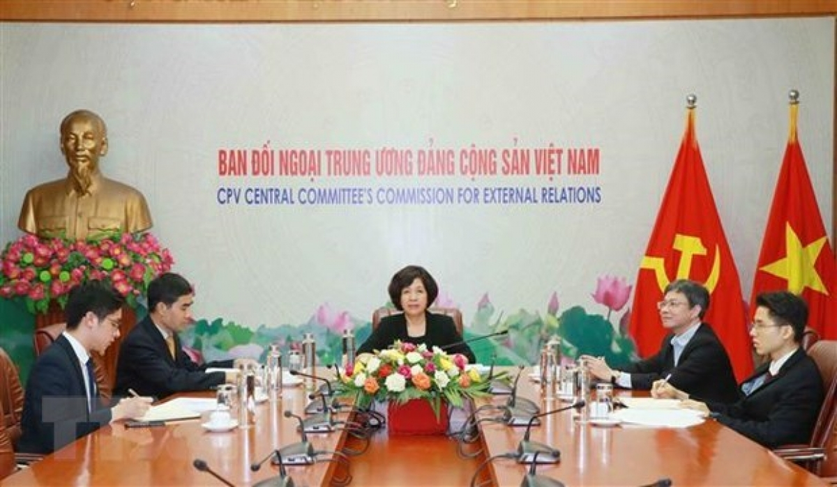 The Vietnamese delegation to the 35th meeting of the Standing Committee of the International Conference of Asian Political Parties (Photo: VNA)