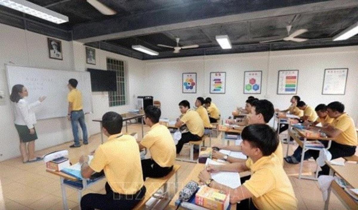 A Japanese language class forVietnameselabourers (Photo: VNA)