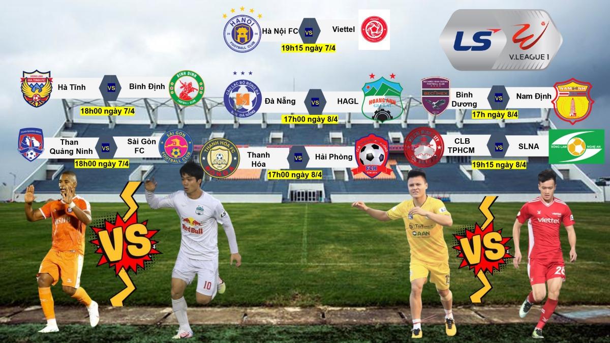 Lịch thi đấu vòng 8 V-League 2021.