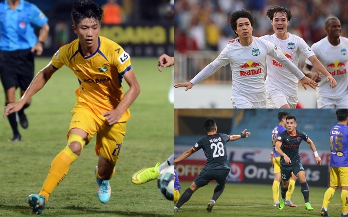 Văn Đức, Tiến Linh, Công Phượng, Văn Toàn đang cạnh tranh trong cuộc đua Vua phá lưới V-League 2021