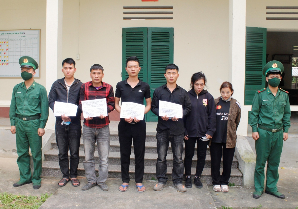 Các đối tượng tổ chức đưa người xuất cảnh trái phép bị lực lượng Biên phòng Bắc Sơn (BĐBP Quảng Ninh) phát hiện, bắt giữ.