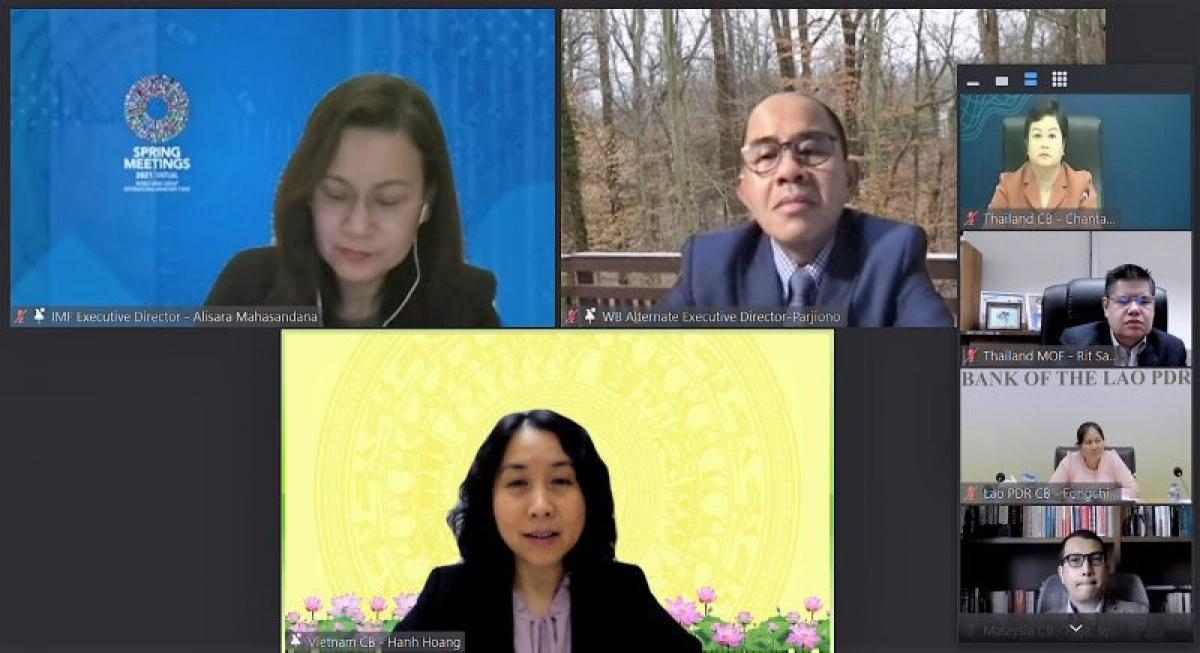 Hội nghị trực tuyến mùa Xuân thảo luận nhiều vấn đề quan trọng nhằm khôi phục kinh tế cũng như giải quyết các khoản nợ toàn cầu.