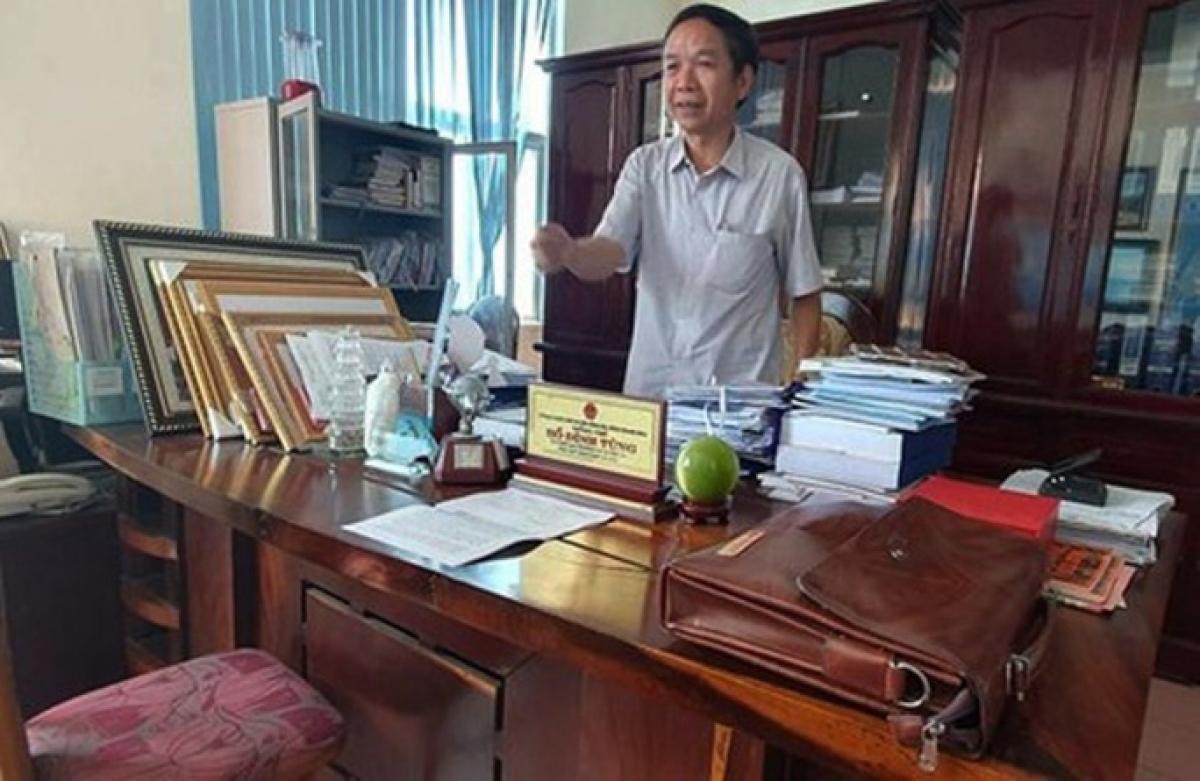 Ông Hồ Đình Tùng, Phó Chủ tịch HĐND thị xã Nghi Sơn bị đình chỉ sinh hoạt Đảng. Ảnh: Người Lao động