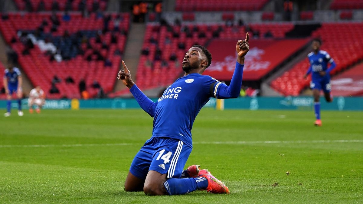 Iheanacho đưa Leicester vào chung kết FA Cup. (Ảnh: Getty)