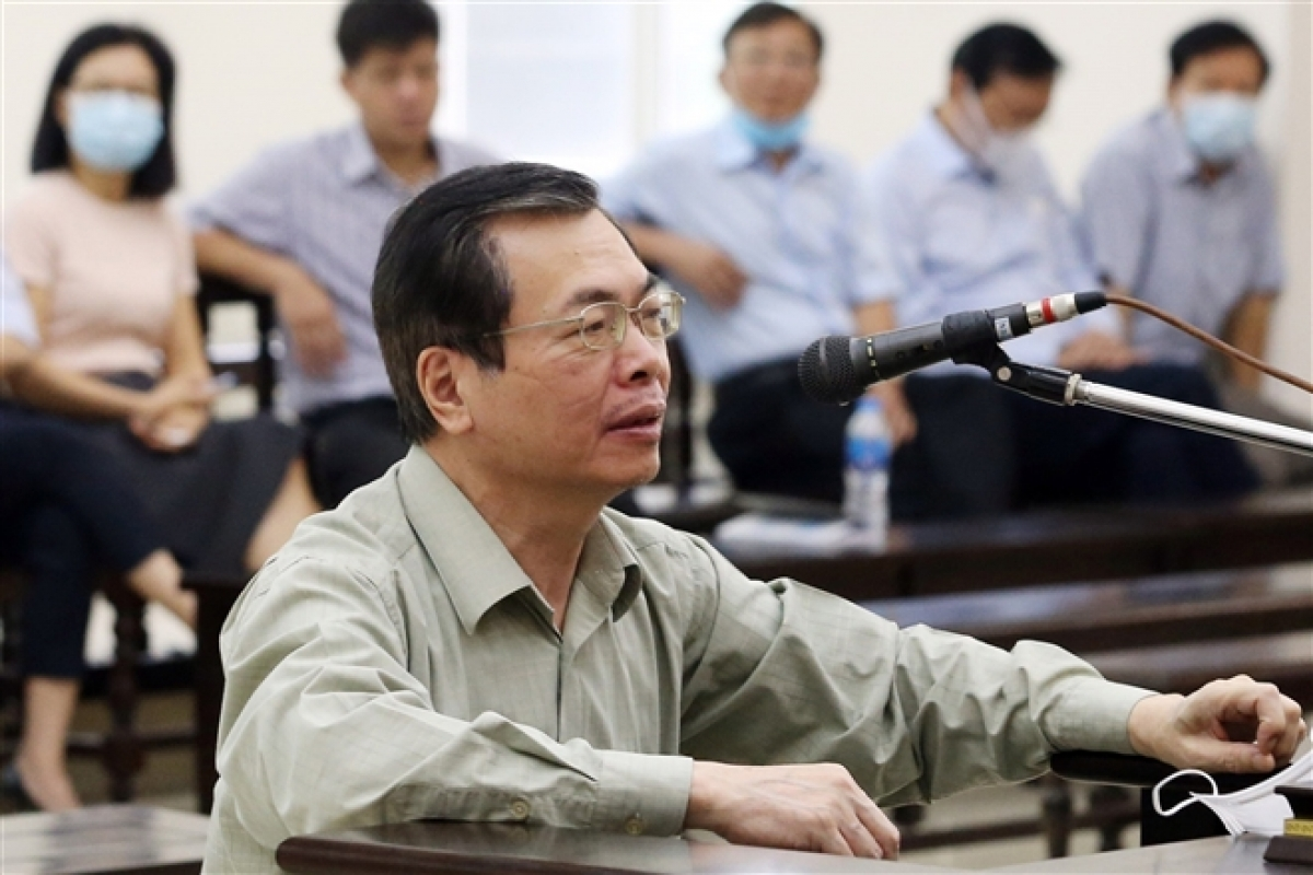 Bị cáo Vũ Huy Hoàng. (Ảnh: TTXVN)