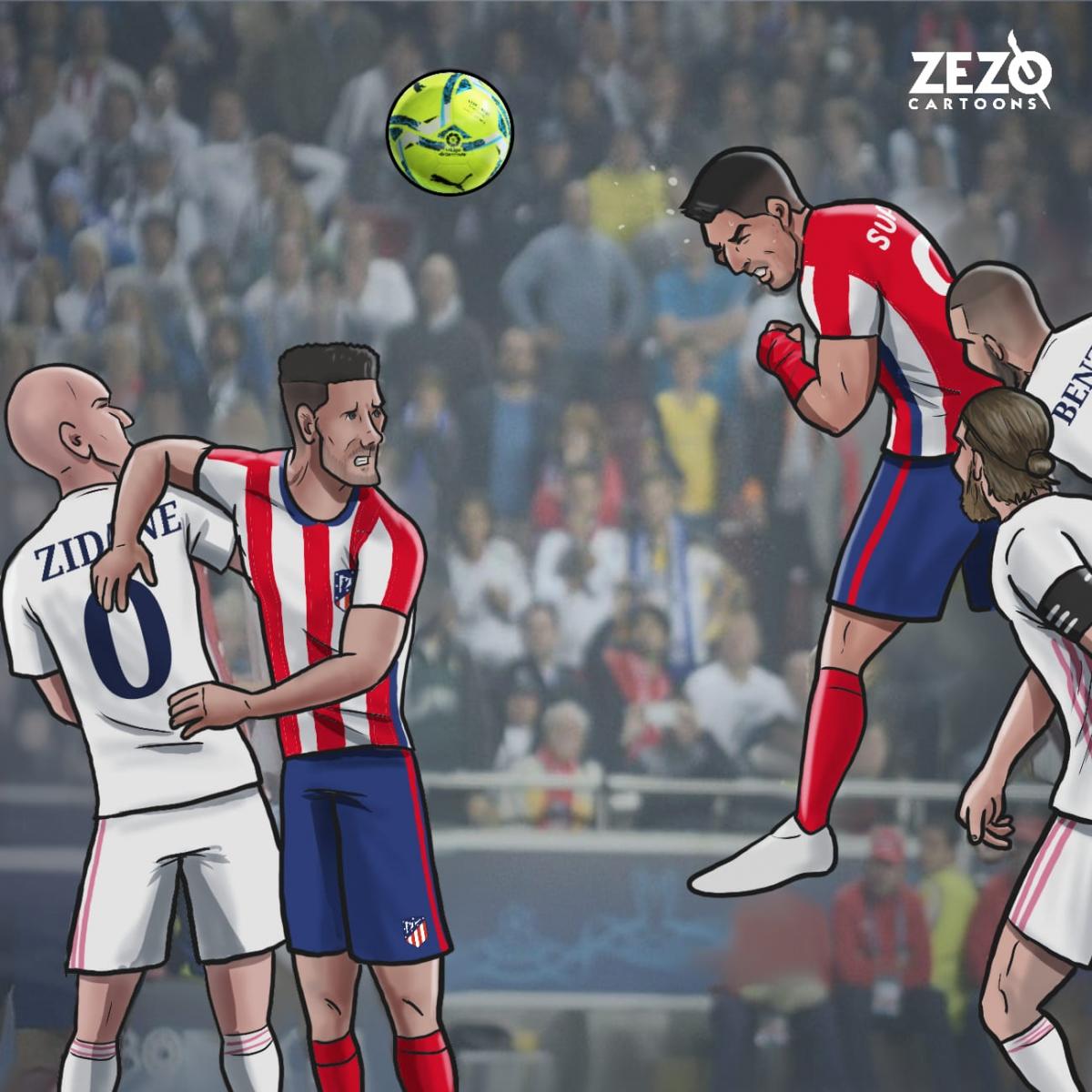 Cuộc đua vô địch ở La Liga đang diễn ra rất quyết liệt. (Ảnh: Zezo Cartoons).