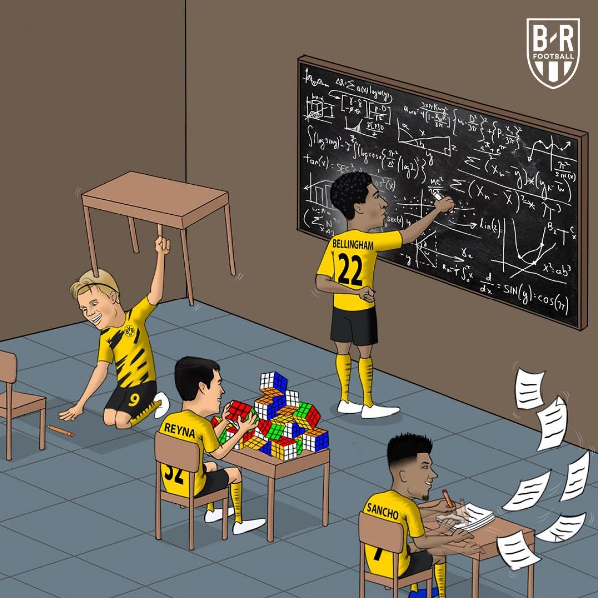 """Dortmund vô địch Cúp QG Đức bằng dàn cầu thủ """"tuổi teen"""" (Ảnh: Bleacher Report)./."""